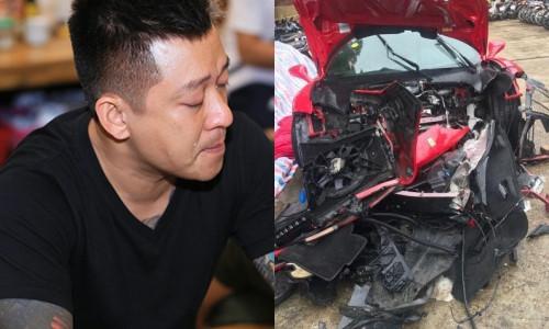 """Siêu xe Ferrari vỡ nát, Tuấn Hưng nói: """"Khỏe mạnh sẽ làm lại được"""""""