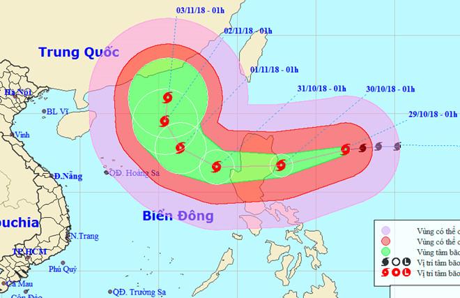 Bão Yutu mạnh cấp 12 khi vào Biển Đông