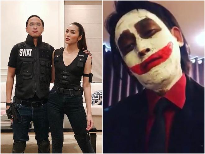 Vợ chồng Tăng Thanh Hà và dàn sao Việt hóa trang Halloween