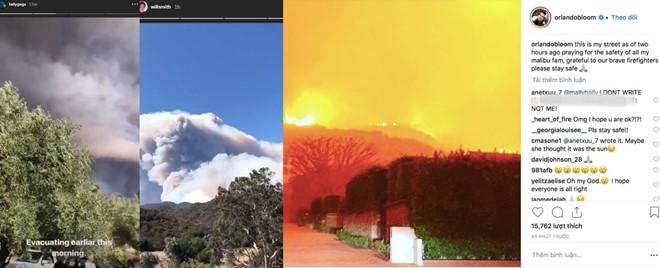 Cháy rừng khiến hàng loạt sao Hollywood hoảng sợ, vội vàng sơ tán