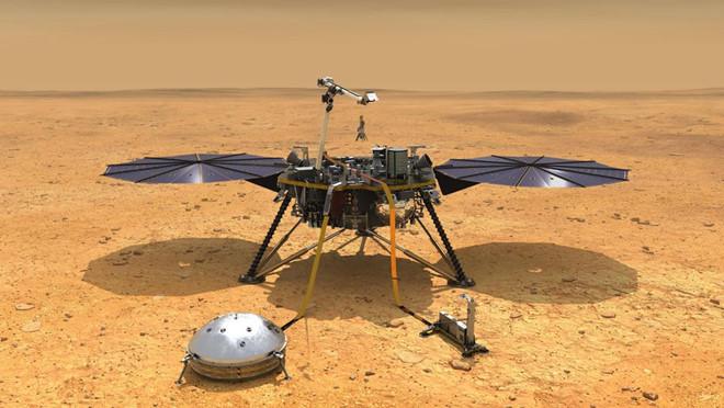 Sau khi đáp xuống sao Hỏa, tàu vũ trụ của NASA làm gì?