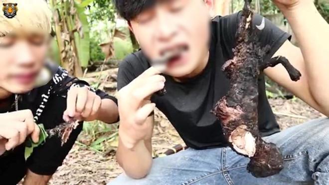 Cộng đồng mạng chỉ trích video phản cảm của YouTuber ăn thịt mèo