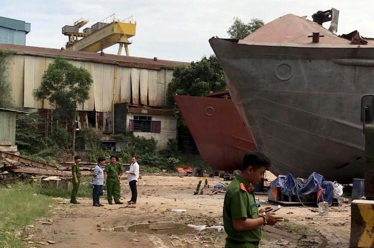 Nổ tại xưởng đóng tàu ở Sài Gòn, 2 người tử vong