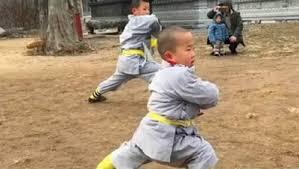 """Tiểu hòa thượng 3 tuổi """"gây bão"""" mạng với màn múa võ ở Thiếu Lâm Tự"""