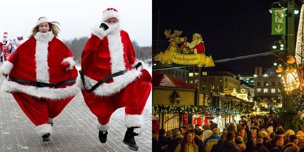 Không khí chào đón Giáng sinh rộn ràng ở các nước trên thế giới
