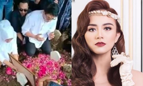 Chồng khóc ròng ở lễ tang người đẹp Indonesia thiệt mạng vì sóng thần