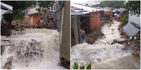 Nha Trang mưa lớn, hàng trăm hộ dân di dời trong đêm