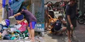 """Hình ảnh """"khách Tây nhặt rác ta"""" lại khiến CĐM tranh cãi"""