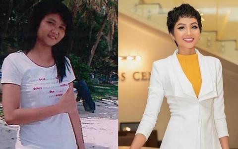 """Sao Việt tham gia """"thử thách 10 năm"""": H'Hen Niê thay đổi ngoạn mục"""