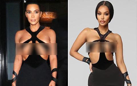 Váy cut-out phản cảm của Kim Kardashian bị nhái trắng trợn