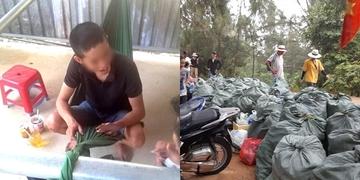 Tham gia thử thách dọn rác, nam thanh niên bị lạc trên núi Chứa Chan
