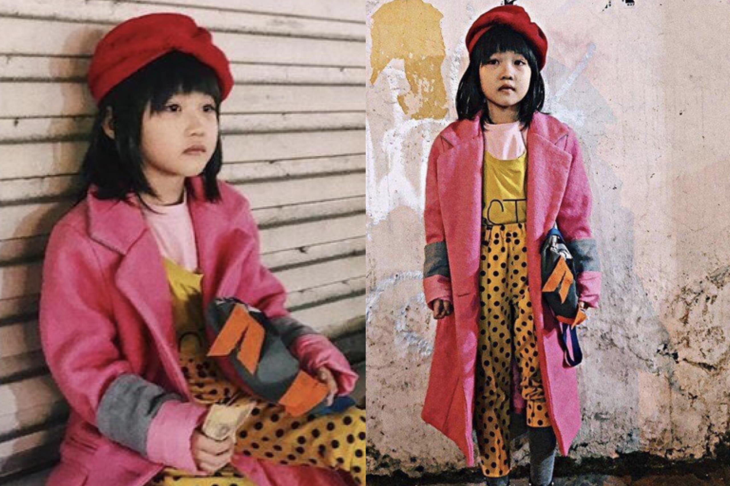 Bé gái vô gia cư, sống vỉa hè nhưng quần áo phối vô cùng 'đẳng cấp'
