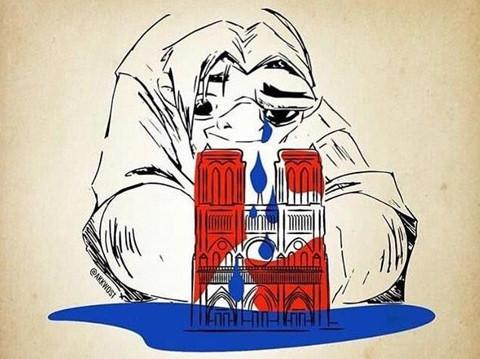 Dân mạng bàng hoàng, cầu nguyện cho Nhà thờ Đức Bà Paris