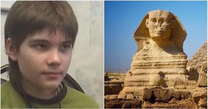 Cậu bé thiên tài người Nga nói nếu mở khóa tượng Nhân sư Ai Cập, sự sống toàn nhân loại sẽ thay đổi
