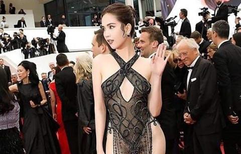 Khoe thân ở LHP Cannes, Ngọc Trinh bị chỉ trích 'làm xấu mặt showbiz'