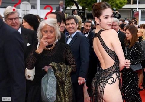 Ngọc Trinh bị dân mạng Trung Quốc chê 'mặc nội y gợi dục' ở Cannes
