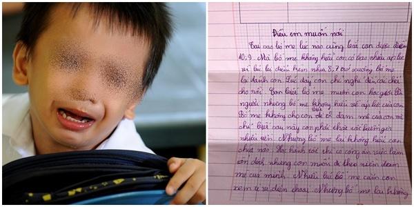Bức thư áp lực về điểm 10 của cậu bé khiến CĐM không khỏi xót thương