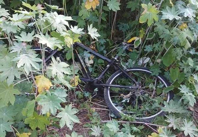 Chiếc xe đạp cạnh thi thể người đàn ông trong công viên