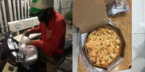 Chú xe ôm nghèo bị bom bánh pizza giữa đêm khiến CĐM xót xa