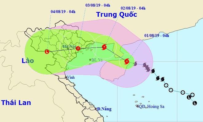 Bão Wipha tiến gần đất liền, Hà Nội và Bắc Bộ mưa lớn