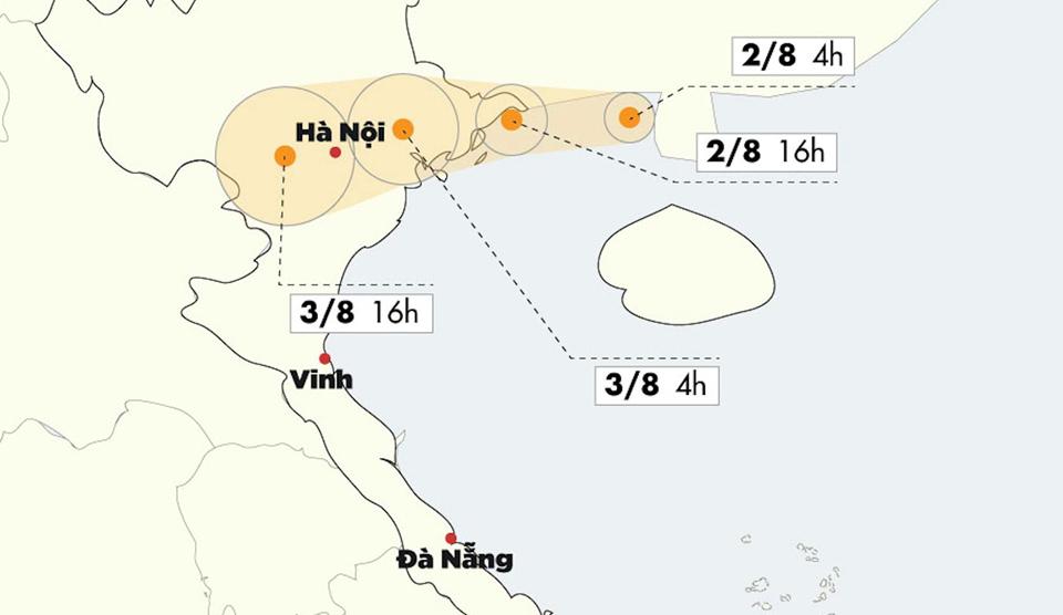 Bão số 3 đã vào vịnh Bắc Bộ, Quảng Ninh - Hải Phòng gió giật mạnh