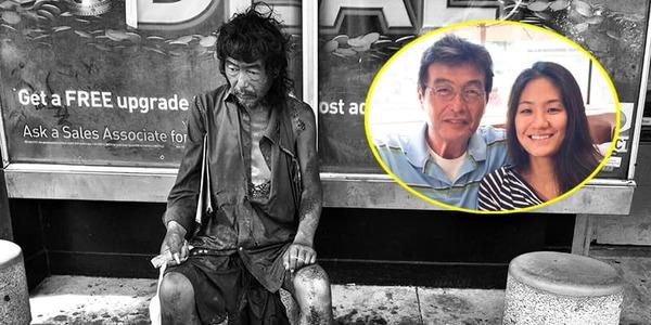 Cô gái vô tình tìm được người bố thất lạc nhờ chụp ảnh người vô gia cư