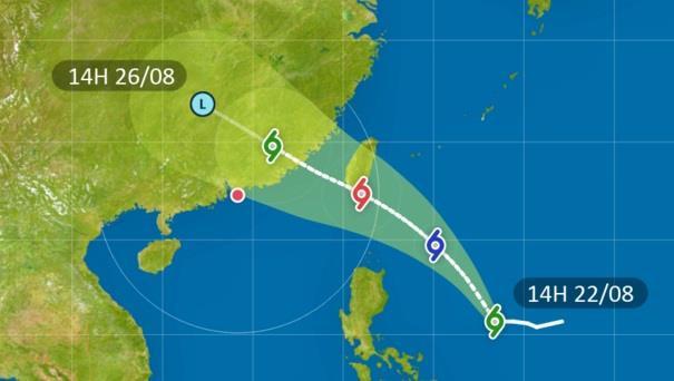 Xuất hiện bão cấp 9 gần Biển Đông
