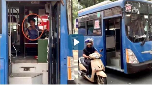 Đình chỉ tài xế phun nước bọt thách thức người đi đường ở TP.HCM