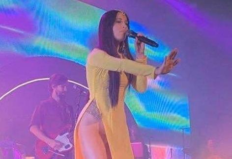 Ngô Thanh Vân bức xúc khi nữ ca sĩ Mỹ mặc áo dài không quần
