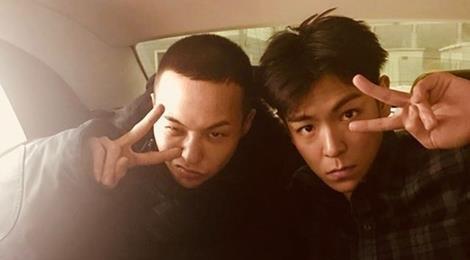 T.O.P đăng ảnh hài hước chào đón G-Dragon trở về