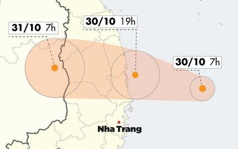 Bão số 5 tăng cấp, đổ bộ Quảng Ngãi - Khánh Hòa chiều nay