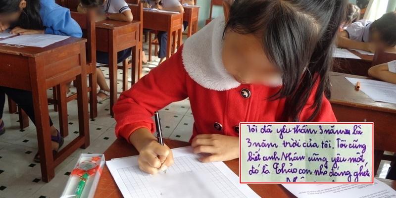 Lá thư tay kèm lời nhắn gửi crush của cô bé lớp 2 khiến CĐM phì cười