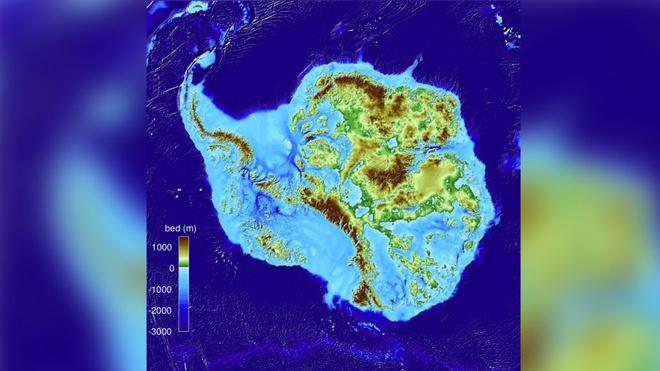 Vùng đất bên dưới lớp băng Nam Cực lần đầu lộ diện