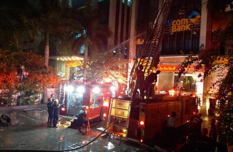 Cháy ở tòa nhà dầu khí Thanh Hóa