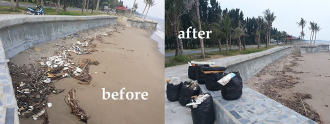 """Tình nguyện dọn rác, thanh niên khoe nhận được """"quà của biển"""""""
