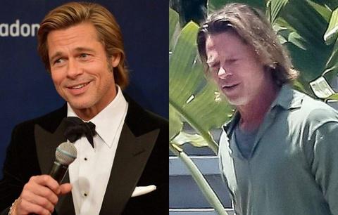 Giai đoạn tuột dốc ngoại hình của Brad Pitt