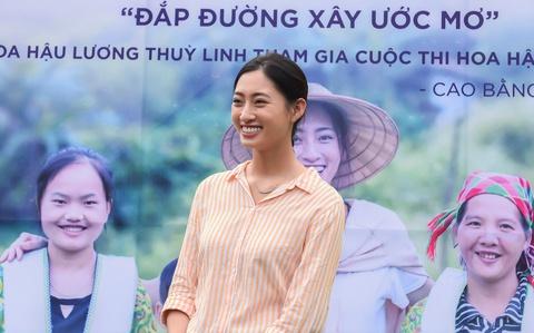 Lương Thùy Linh xây đường ở Cao Bằng giúp bà con