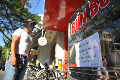 Đà Nẵng dừng kinh doanh ăn uống, kể cả bán mang về từ 30/7