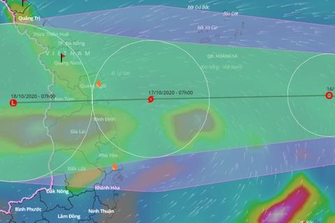 Áp thấp nhiệt đới hướng vào Đà Nẵng - Phú Yên