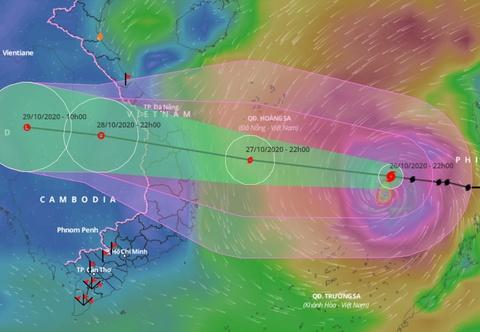 Ứng phó bão số 9 với cảnh báo đỏ, rủi ro rất lớn