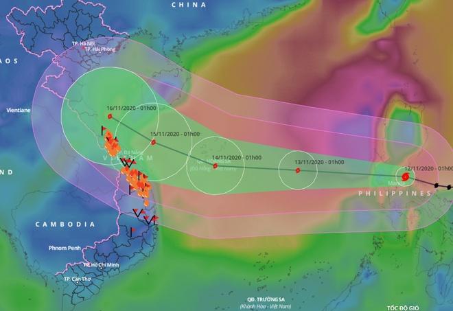 Bão Vamco đổ bộ Philippines, chuẩn bị vào Biển Đông