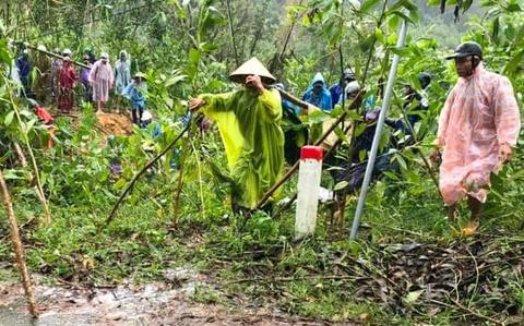 Sạt lở đất ở Quảng Nam, một người mất tích