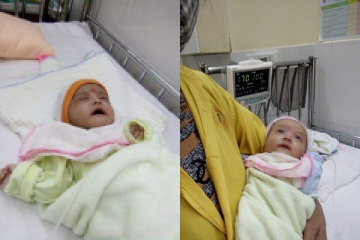 Hai trẻ sơ sinh bị bỏ rơi trước cổng chùa