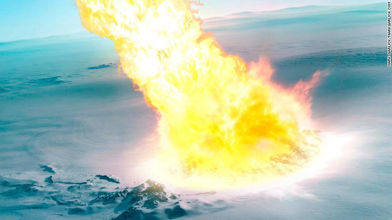 Phát hiện thiên thạch nổ tung trên bầu trời Nam Cực 430.000 năm trước