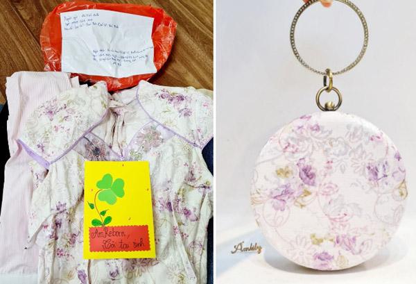 Cô gái làm ví, túi xách từ quần áo cũ