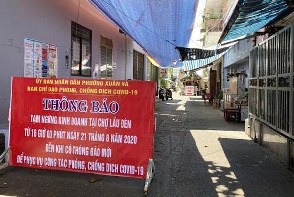 Đà Nẵng phong tỏa một khu chợ