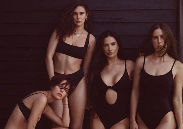 Demi Moore và 3 con gái