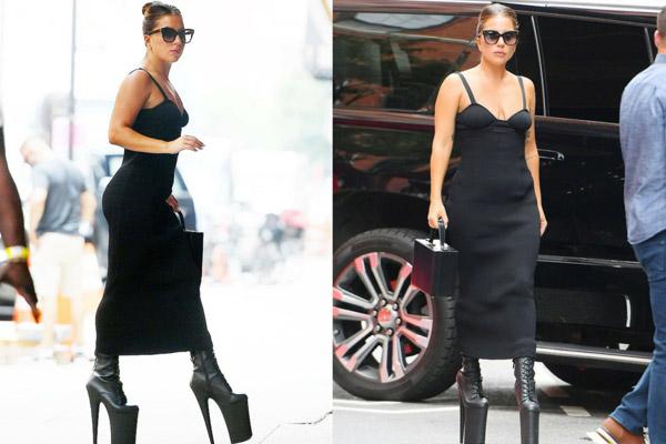 Lady Gaga xuống phố với giày cao 30 cm