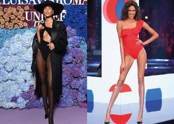 Đôi chân dài 1,2 m của người mẫu Victoria's Secret