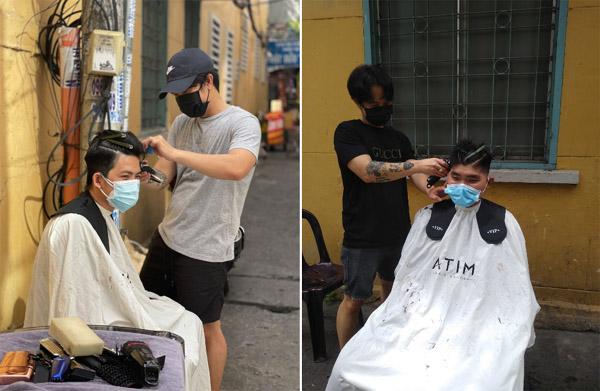Chủ salon ở TP.HCM cắt tóc miễn phí cho công an, tình nguyện viên